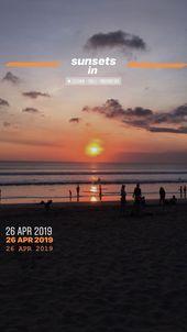 Bali Sonnenuntergänge – #bali #snapchat #sunsets – ölig –  Bali Sonnenuntergä…