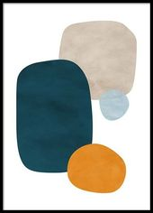Color Shapes No1 Poster