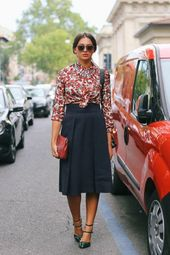 La jupe corolle pour une silhouette avec un halo – Fashion – #with #corolle #F …   – Jupes