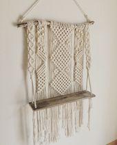 Macrame hanging shelf/ Macrame wall hanging/ Macrame boho design/ Macrame shelf/ Hanging shelf/ Boho design/ Macrame decor