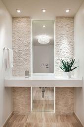 Wie der Rahmen einen Spiegel im Bad gut Aussehen