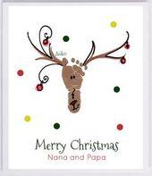 Reindeer Footprint Wandkunst – die tatsächlichen Drucke Ihres Kindes! Opa und Opa Weihnachtsgeschenk, Babys erste Weihnachten, Fußabdruck Kit 306B-pap – lavoretti greta
