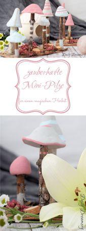 Zauberhafte Mini-Pilze – Herbst-Deko für ein stimmungsvolles Zuhause [Anzeige – Bastel