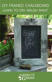 Trockenbürstenrahmen Chalk Board