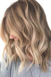 blonde balayage; natural blonde highlights; loose waves; neutral blonde b – New Site