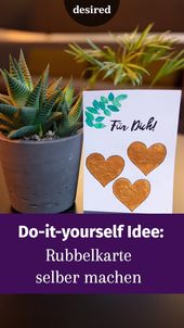 Geschenkidee: Machen Sie die Rubbelkarte selbst    – Valentinstag