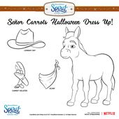 Senor Carrots Is Ready For Halloween Print And Color His Costume Then Show Us Your Creations In The Comme Free Birthday Stuff 2nd Birthday Parties Dreamworks