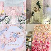 Hochwertige 40x60cm Seide Rose Kunstblumen Hochzeit Dekoration Blume Wand romantisch für Hoch…