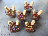 Ostern Nachtisch Kinder kreativ Schokoladenpudding – Ostern mini donuts