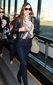 16 Ideas travel outfit jeans airport style miranda kerr  #airport #Ideas #jeans ...