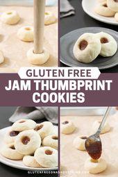 Easy Gluten Free Jam Thumbprint Cookies