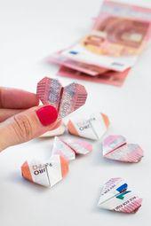 Drei schöne DIY Geldgeschenke für die Hochzeit   – Hochzeit
