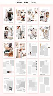 Feminine Mood board Templates by William Hansen on Creative Market #creativemark…
