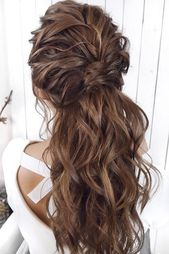 33 Oh so perfect curly wedding hairstyles, curly wedding hairstyles brown long half up half down mpobedinskaya #weddingforward #wedding #bride #wed… – Site Today