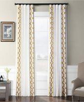 Espalier Embroidered Taffeta 50 x 108 Curtain Panel