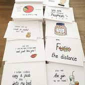Long distance relationship -boyfriend gift -i miss you – ldr – funny card- girlfriend – funny chart – girlfriend -i love you – husband