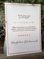 Stempelduett: Best wishes for the wedding