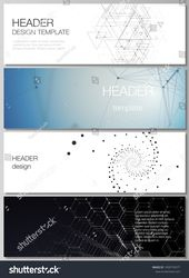 The minimalistic vector illustration of the editable layout of headers, banner design templates. Technology, science, fu #Ad , #AFF, #headers#layout#d…