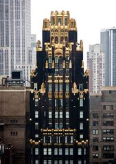 The American radiator building. 40 West 40th Street, in Midtown Manhattan, New York
