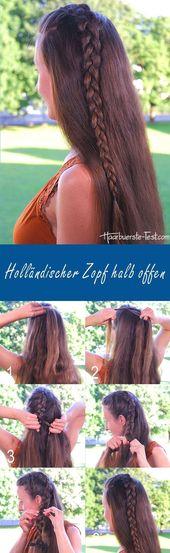 Holländischer Zopf Anleitung – #Anleitung #Dutt #…