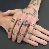 60 ideas de tatuajes de dedos para hombres   – Inspiration