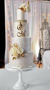 Gold & champagne wedding cake by Joanna Pyda Cake…