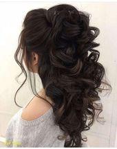 Elegant Wedding Hairstyles Curly Hair Half High