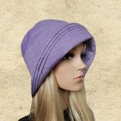 Sun cloche hats, Womens summer hats, Lilac cotton hats, Suns hats womens, Small brim sun hat, Sun hats for lady, Organic fabric hats – Products