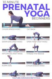 PRENATAL YOGA for Beginners (10 minute Yoga) Safe for ALL Trimesters | Sarah Beth Yoga