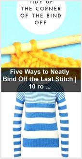 #stitch #neatly #five #ways #bind #last