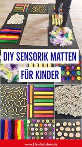 DIY Sensorik Matten für Kinder – Sinneswahrnehmung mit den Füßen
