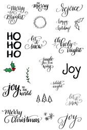 Hand Lettered Holiday PNG Clip Art