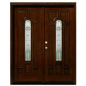 Asian Pacific Products Inc. Mahogany Prehung Front Entry Doors Door Orientation: Right Hand/Inswing