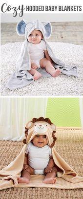 Kleine Erdnuss-Elefant-mit Kapuze Decke   – Baby Shower Gift Ideas
