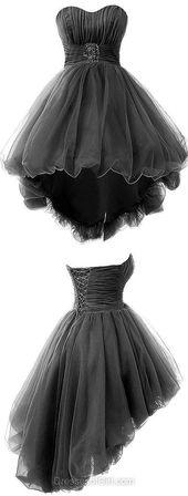 Prinzessin Homecoming Kleider, Sweetheart Party Kleider, Tüll Cocktailkleid, asymmetrische Abendkleider, Perlen Prom Kleider, YY44 aus dem modernen Himmel