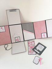 Scrapbook, Pink Baby Photo Album, Babies First Year Memory Album, Journal Baby Book, Girl – Scrapbooking✂️