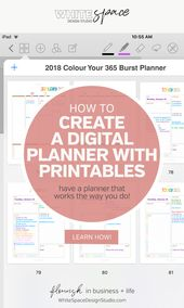 HOW TO CREATE A DIGITAL PLANNER WITH PRINTABLES | WhiteSpace Design Studio