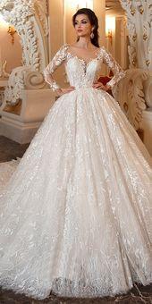 Marvelous Lace & Tulle Scoop Halsringning Ballklänning Bröllopsklänning med Spets Applikation …
