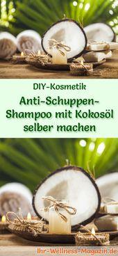 Antischuppenshampoo mit Kokosöl selber machen – Rezept & Anleitung   – Haarpflege selber machen – DIY-Rezepte