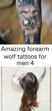Amazing forearm wolf tattoos for men 4