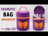 Tas Make Up dari CD/DVD Bekas tanpa jahit ! Cosmetic bag No Sew | Reuse old CD | Best out of waste