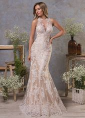 Wedding Dresses Simple, Attractive Tulle Jewel Neckline Natural Waistline Mermaid Wedding Dress With Lace Appliques