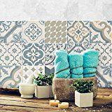 Pvc Autocollant Carreau De Ciment Mosaique Salle De Bain Stickers Carrelage Adhesif Mural Decalque De Mur De Pvc Stickers Car