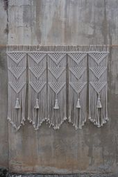Large macrame wall hanging,  bedroom decor, headboard, Home Decor tapestry, Bohemian wall art, Wedding decor photography