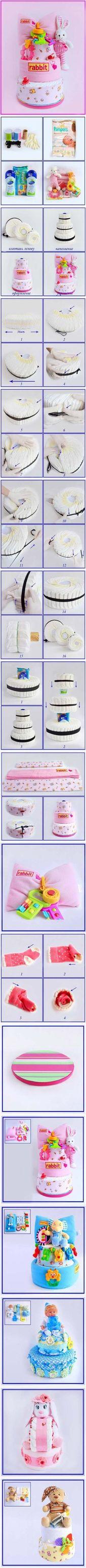 Beste Baby-Dusche Invitacin DIY Windel Kuchen 32 Ideen – Baby-Duschen || – #Ba ….   – Babykleidung