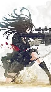Pin On Anime Girl With Gun