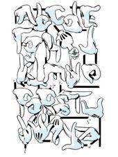 OG SLICK – HAND ALPHABET GRAFFITI ART PRINT  – Fontastic