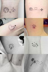 Tattoos minimalistische Inspirationen