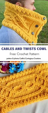 Warm Cowls For Winter – Crochet