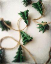 Girlande rustikale immergrünen Weihnachtsbaum Weihnachtsdekoration